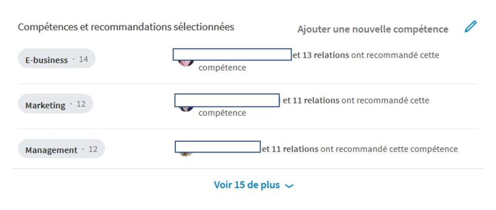 Compétences LinkedIn